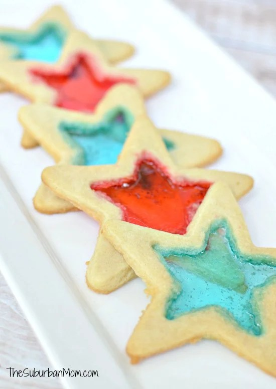 Red White Blue Star Cookies