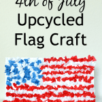 4th of July Upcycled Flag Craft