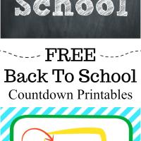 Back To School Countdown Free Printable