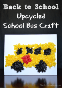 Back to School Bus Upcycled Craft