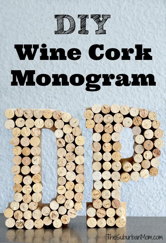 wine cork monogram