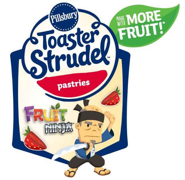 Toaster Strudel Fruit Ninja Logo