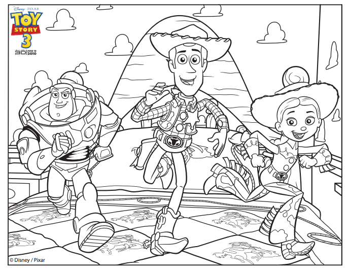 graphic regarding Toy Story Printable Coloring Pages called Toy Tale Coloring Internet pages + Toy Tale of Terror