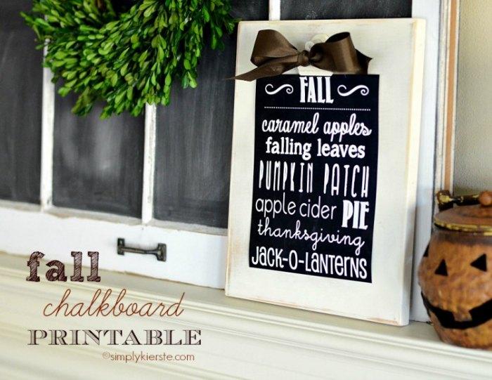 Free Printable Fall Sign 8