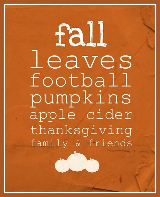 Free Printable Fall Sign 9