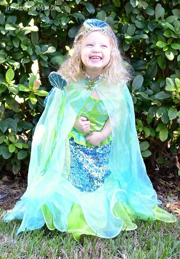Girls Mermaid Costume Green
