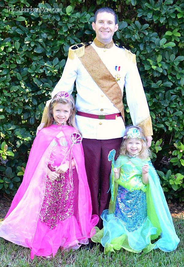Girls Mermaid Mens Prince Costume