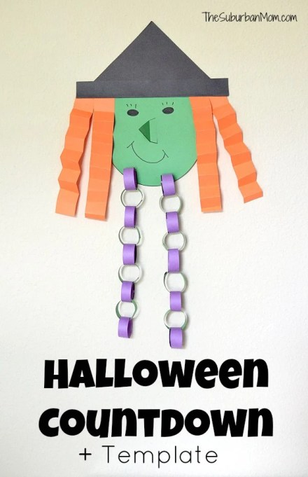 Halloween Countdown Witch Template