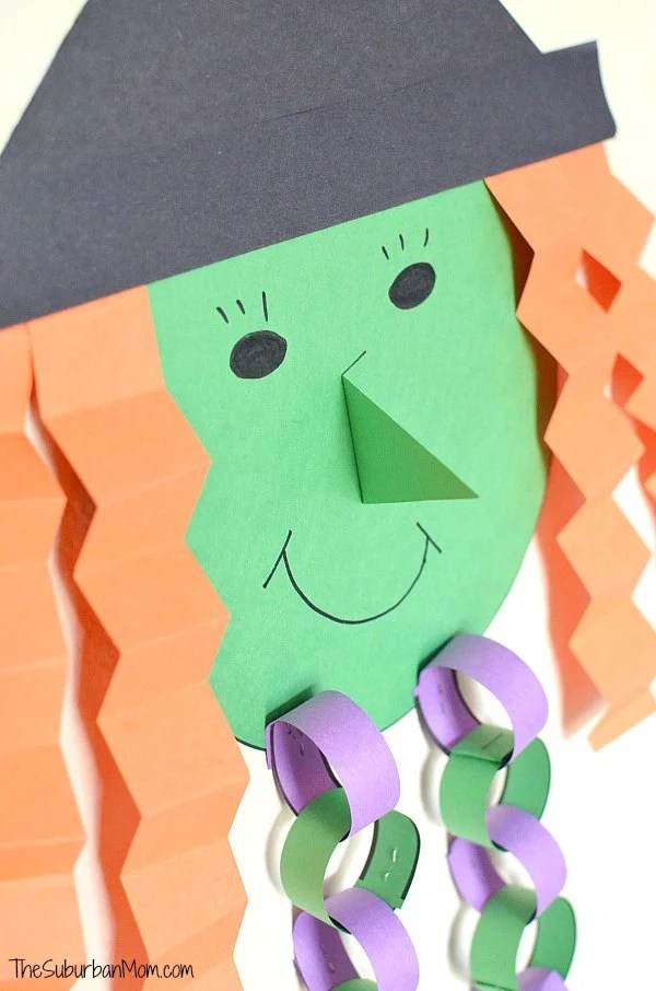 Halloween Countdown Witch Kids Craft