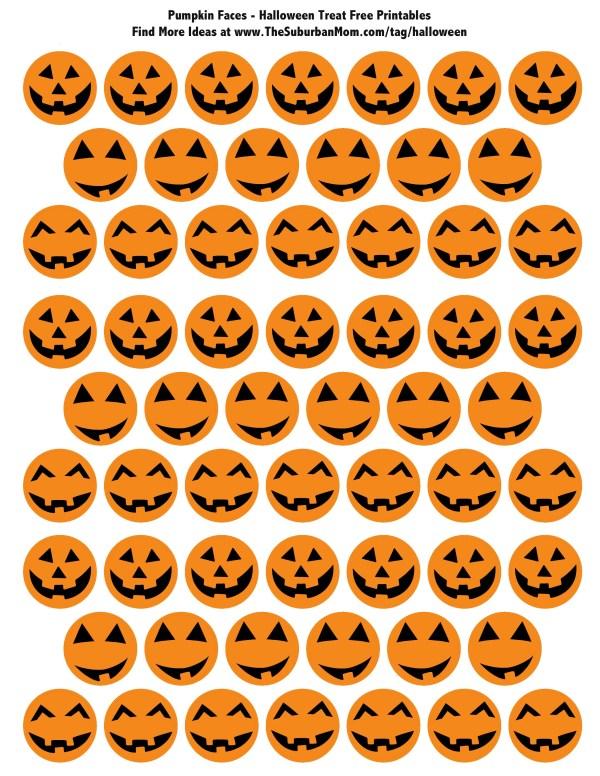 Halloween Pumpkin Treat Printable Tags