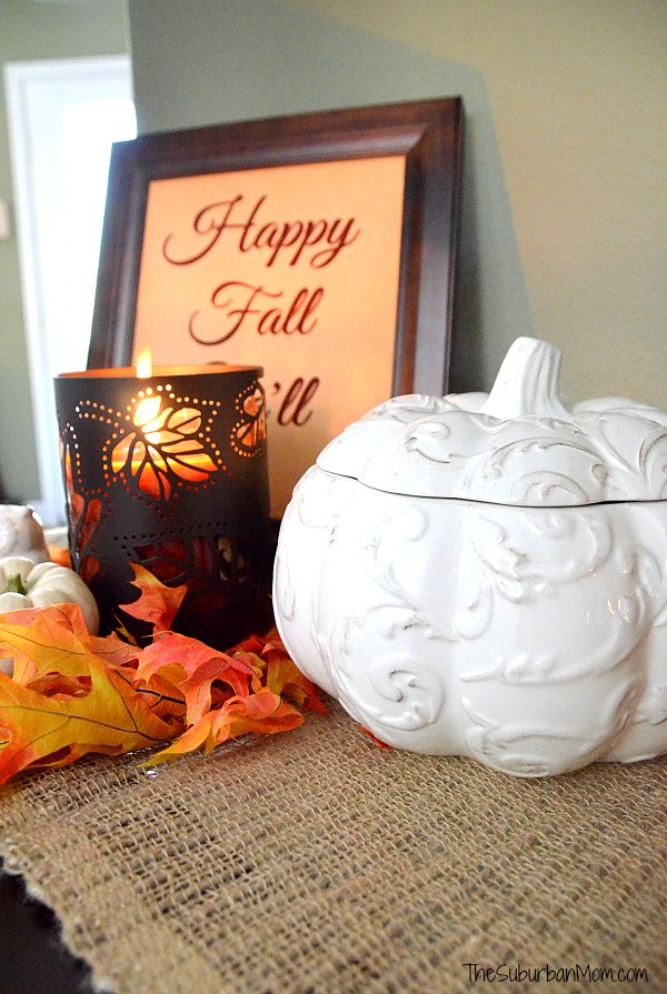 While Pumpkin Fall Decoration