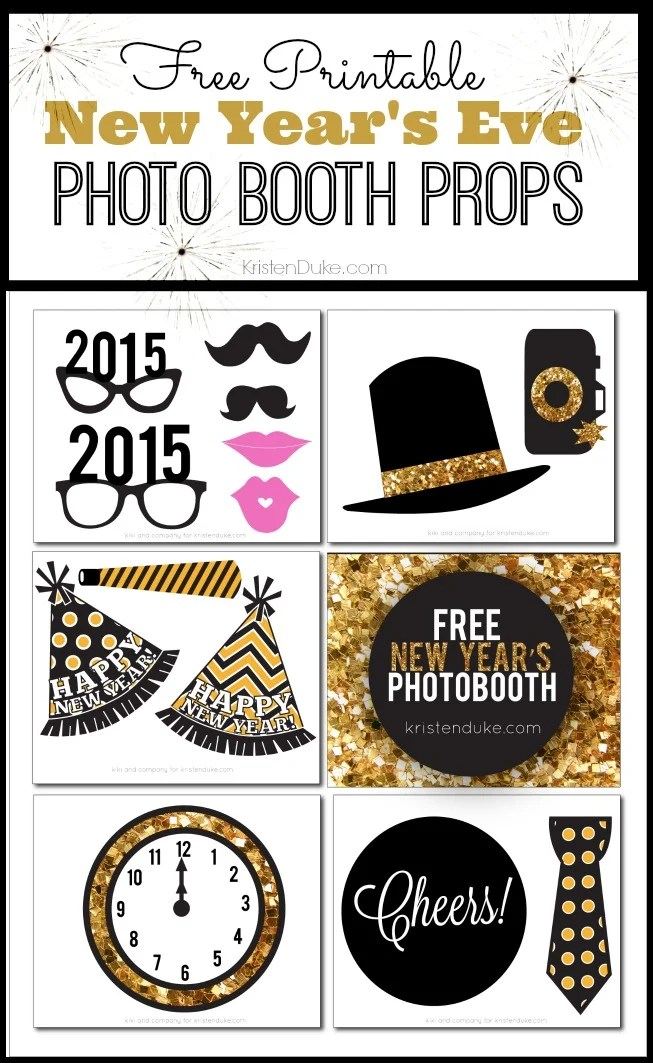 Free New Years Eve Photo Booth Props