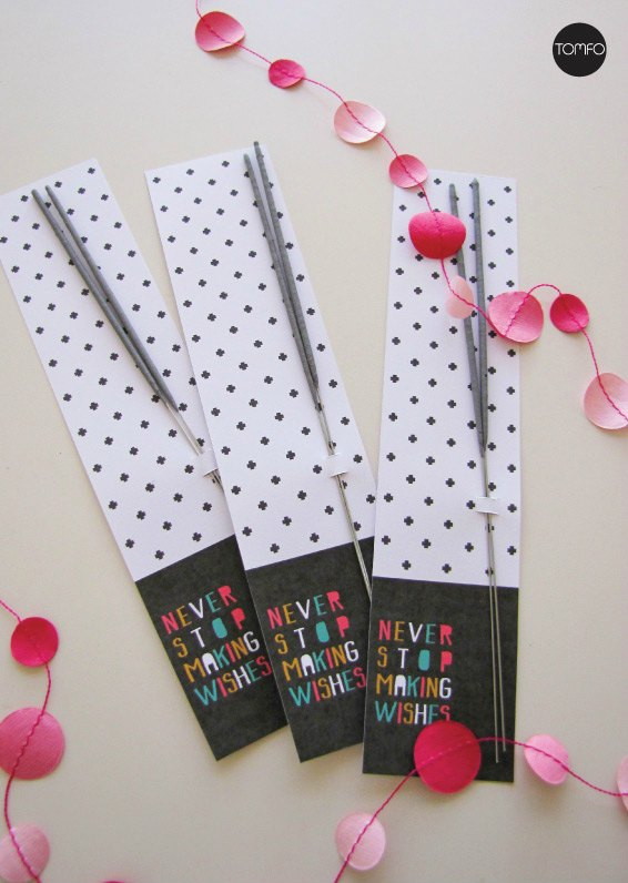 Free New Years Eve Sparkler Favor Printable