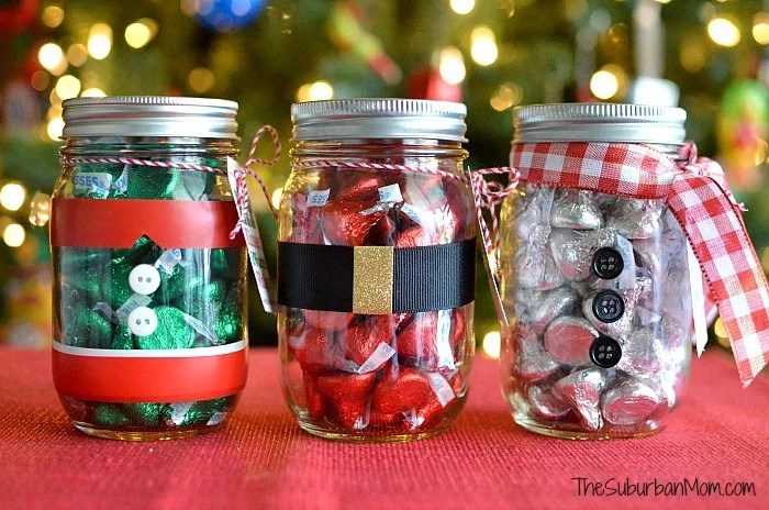 How To Decorate A Jar For Christmas Gift Delectable Mason Jar Christmas Gifts  Free Printable Tag  Thesuburbanmom Design Inspiration