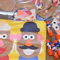 Mr And Mrs Potato Head Craft For A Toy Story Birthday Party