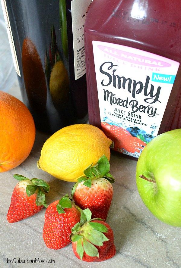 Easy Sangria Recipe Ingredients