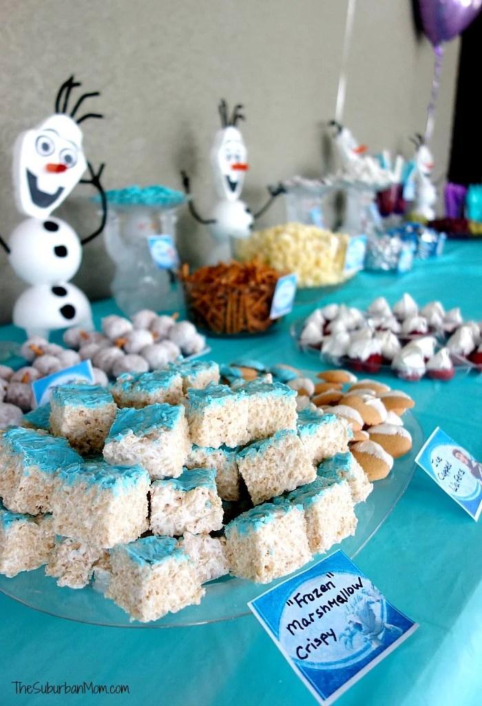 Frozen Birthday Party Desert Table