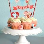 Pink Velvet Valentine's Day Cupcakes