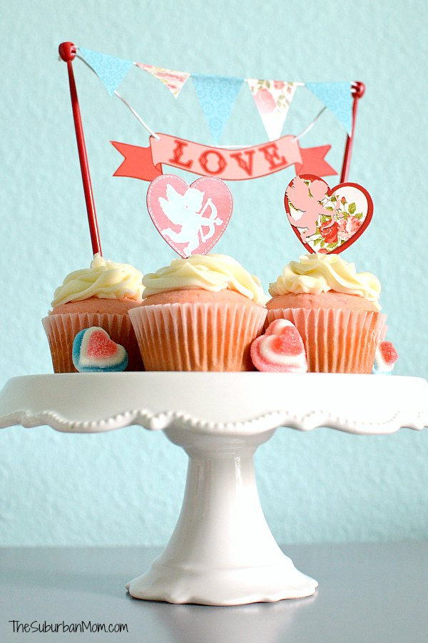 Valentine's Day Pink Cupcakes