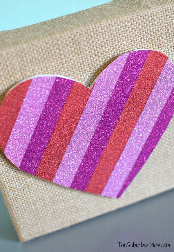 Washi Tape Burlap Craft
