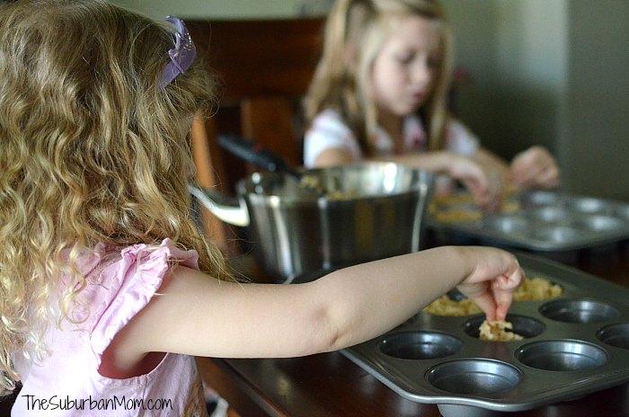 Kids Making Rice Krispies Treats