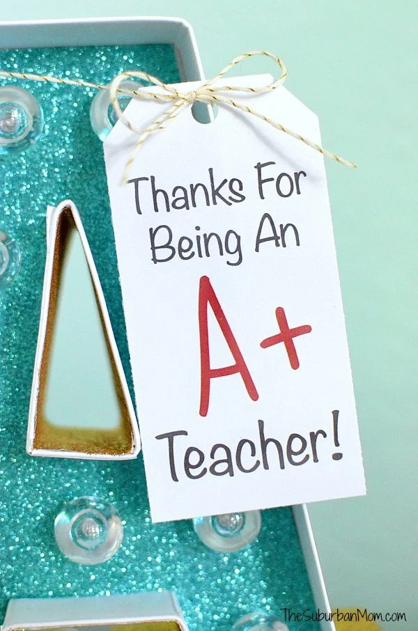 A+ Teacher Gift Tag