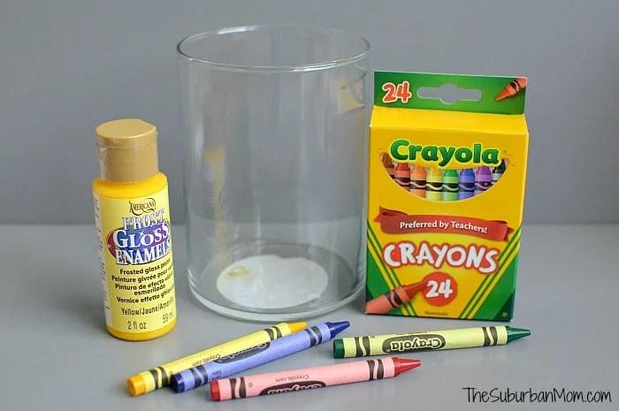 Crayon Vase Materials