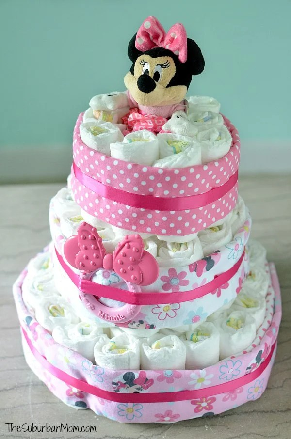 Minnie Mouse Diaper Cake