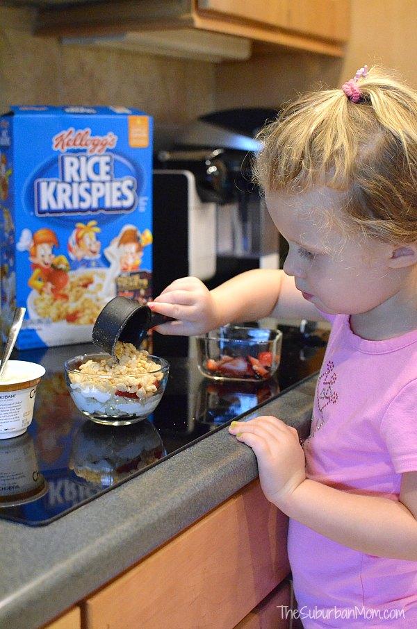 Rice Krispies Parfait