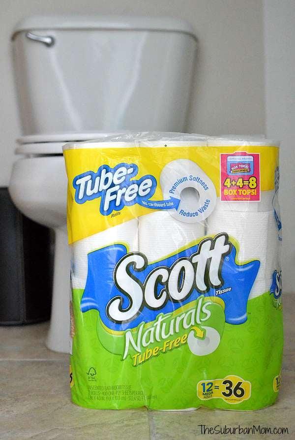 Scott Tube Free Toilet Paper