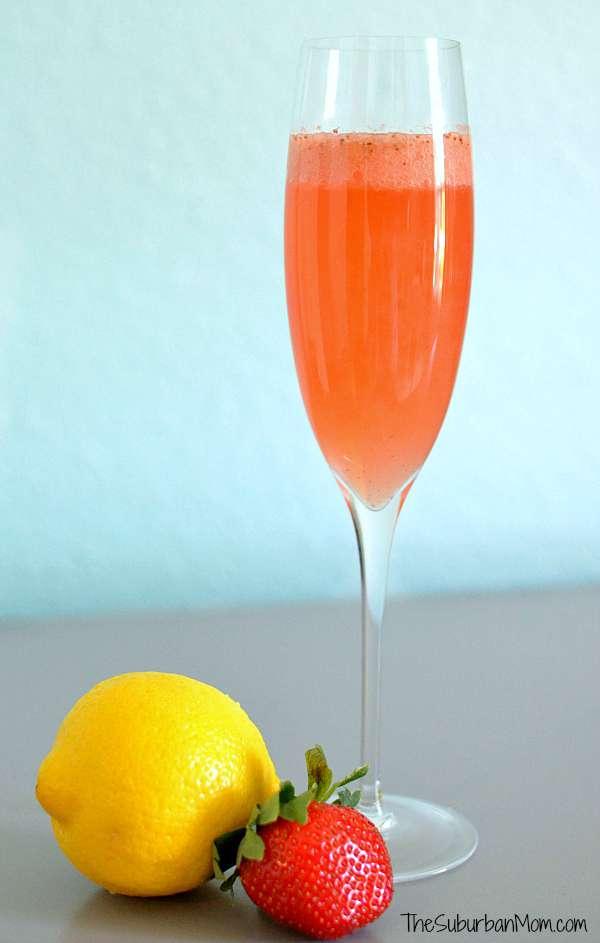 Strawberry Lemonade Mimosa Recipe