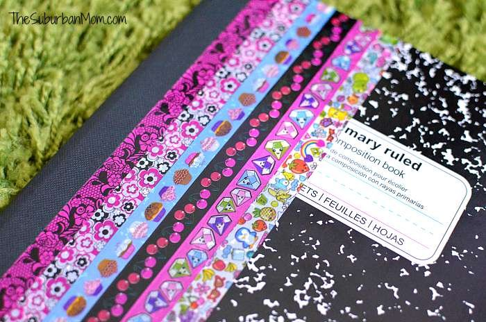 Washi Tape Covered Notebook