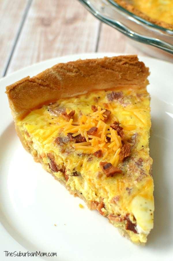 Cheddar Bacon Quiche Recipe