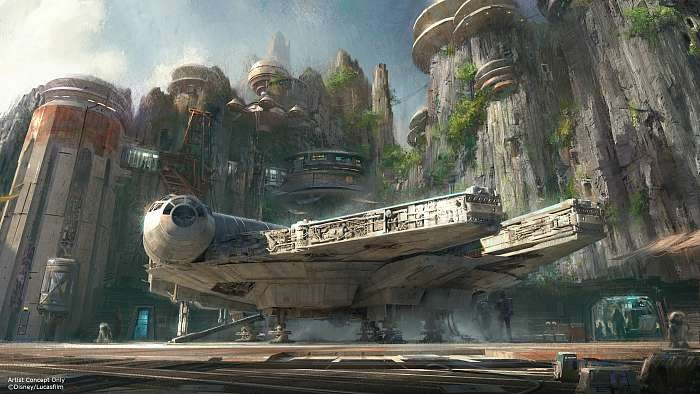 Star Wars Land Millennium Falcon Ride Rendering