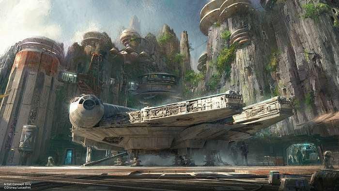 Star Wars Land Millennium Falcon Ride Rendering