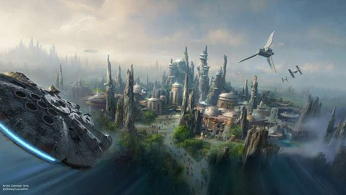 Star Wars Land Rendering