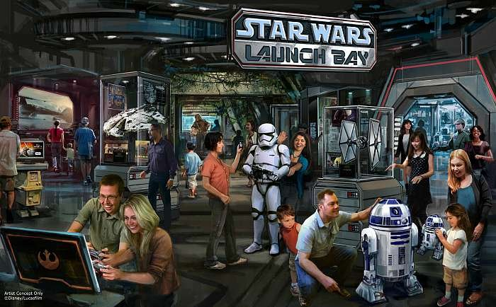 Star Wars Launch Bay Rendering