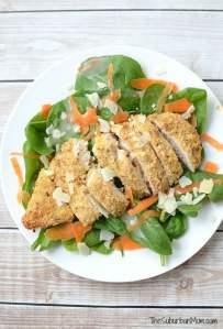 Parmesan Herb Crusted Chicken Salad