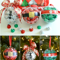 DIY Christmas Ornaments With Hershey's Kisses Chocolates
