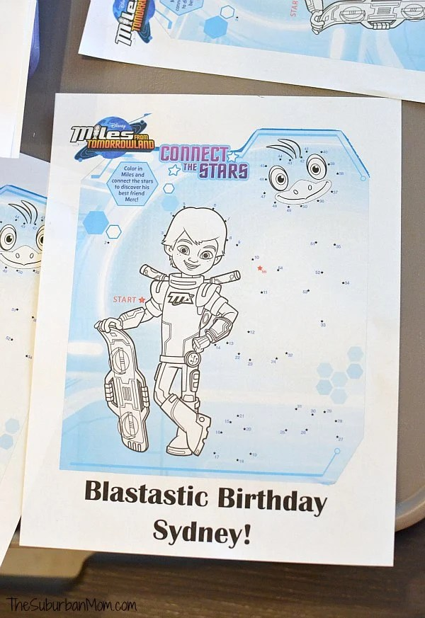 Miles From Tomorrowland Coloring Page