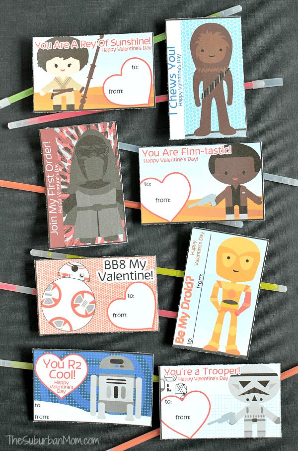 Printable Star Wars Valentines Cards