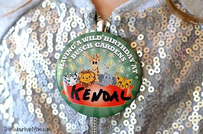 Busch Gardens Birthday Button