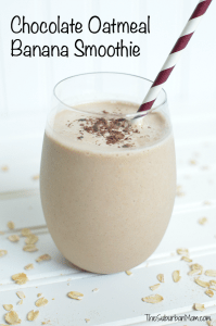 Chocolate Oatmeal Banana Smoothie