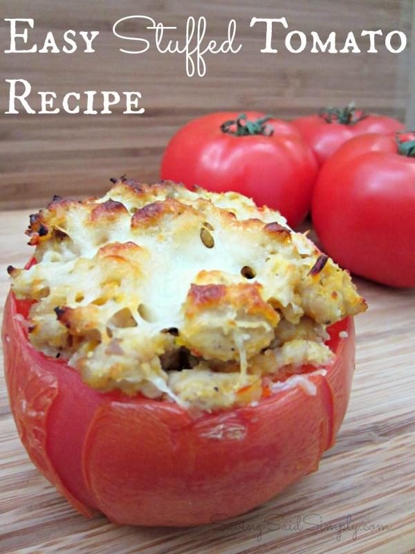 Easy Stuffed Tomato Recipe