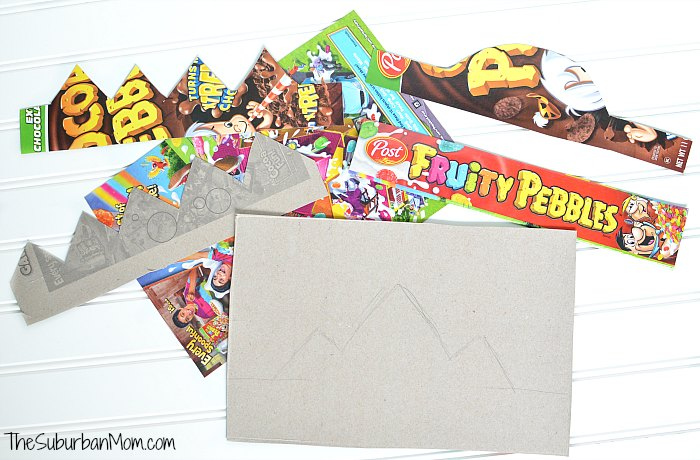 Fruity Pebbles Cereal Box Craft