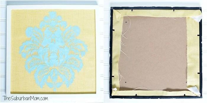DIY Framed Fabric Art Project