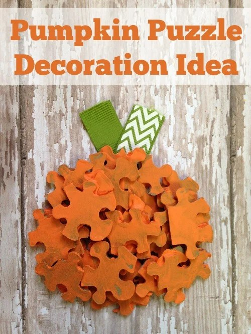 Halloween Pumpkin Puzzle Craft