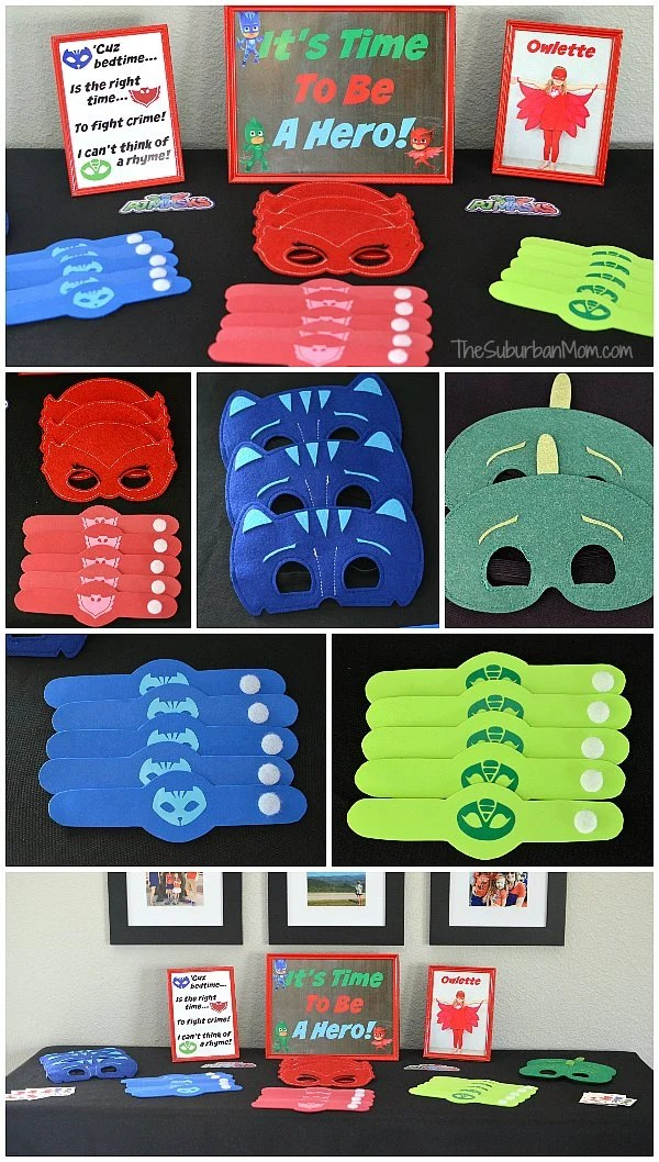 graphic about Pj Mask Printable Template identify PJ Masks Birthday Get together Designs And Free of charge Printables - The