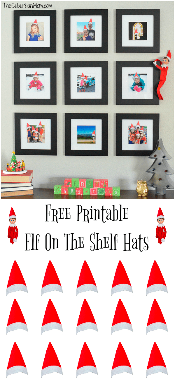 graphic regarding Printable Elf on the Shelf called Printable Elf Upon The Shelf Hats For Loved ones Pictures - The