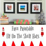 Printable Elf On The Shelf Hats For Family Photos
